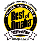 WoodmenLife is the 2020 Best Of Omaha First Place for Best Life/Health Insurance Company